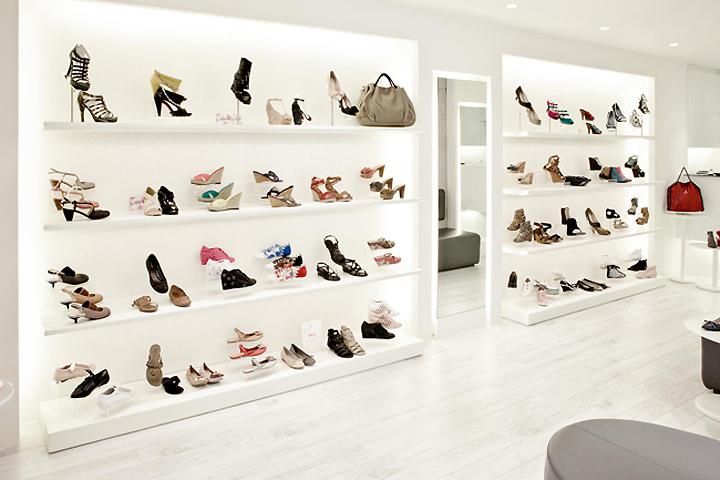 Retail Store Shoe Shelves